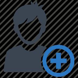 add friend, adding, boy, plus, social media, user icon
