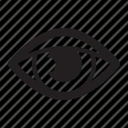 eye control, retina ready, view icon