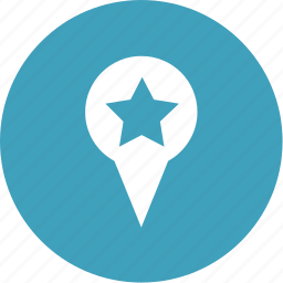 bookmark, direction, location, marker, pin, star icon