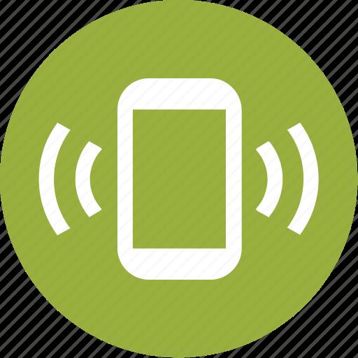 calls, mobile, phone, silent, vibrate icon