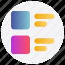 list, menu, task icon