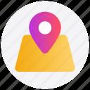 gps, location, map pin, navigation