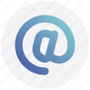 at sign, email, internet, social media icon
