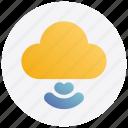 cloud, internet, signals, storage icon
