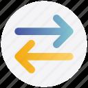 arrows, left, right, sharing, transaction