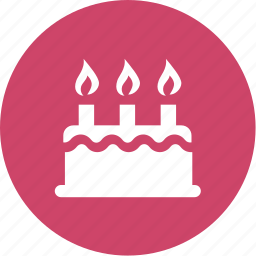 birthday, cake, candles, celebration, event, party icon