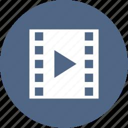 camera, cinema, film, movie, play, strip icon