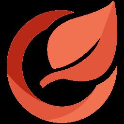 circle, leaf, logo, media, network, online, social icon