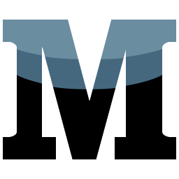 m, media, social icon