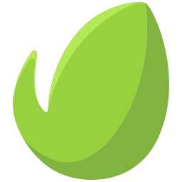 leaf, logo, media, network, online, social icon