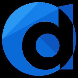 d, logo, media, network, online, social icon