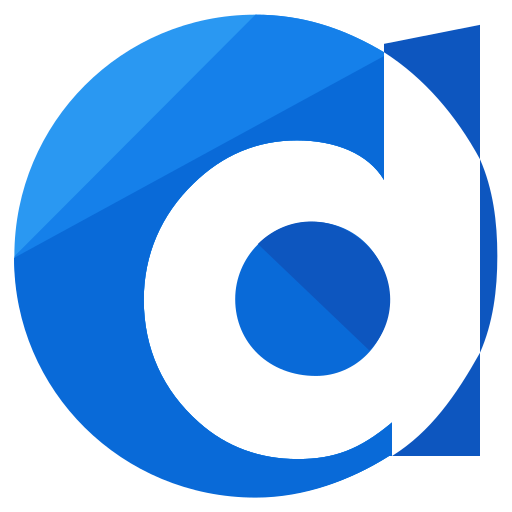 d, logo, media, social icon