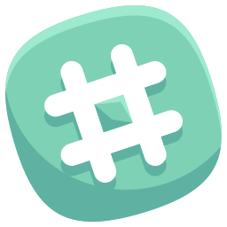 hashtag, media, social icon