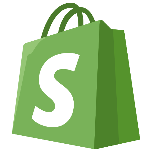 ecommerce, logo, shopify icon