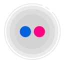 flickr circle icon, flickr icon, gradient icon, social media icon icon