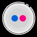 flickr circle icon, flickr icon, gradient icon, social media icon