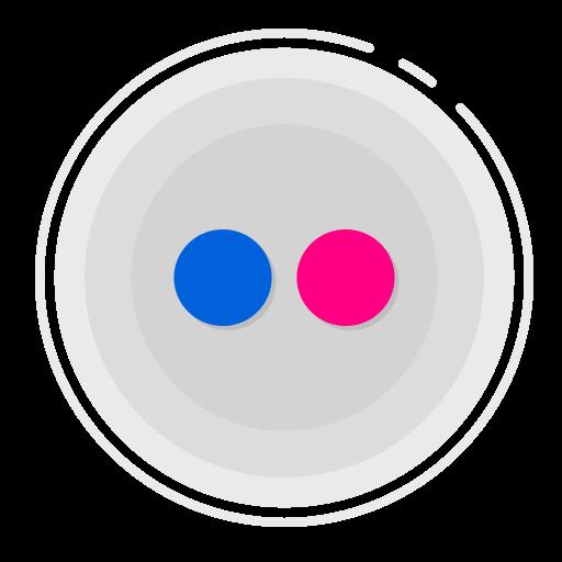 flickr circle icon, flickr icon, gradient icon, social media icon icon