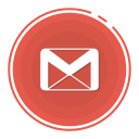 gmail circle icon, gmail icon, gradient icon, social media icon icon