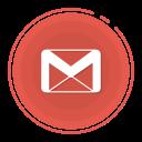 gmail circle icon, gmail icon, gradient icon, social media icon