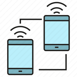 communication, internet, mobile, network, sync, wifi icon