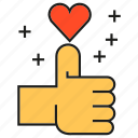 heart, love, plus, social media, social network, thumb up icon