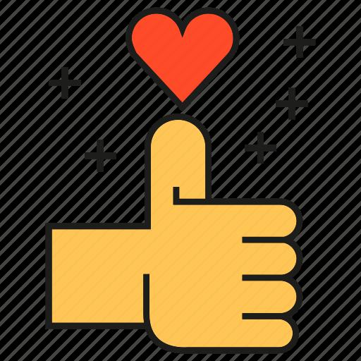 heart, love, plus, social media, social network, thumb up icon