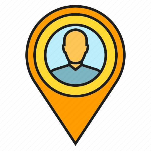 location, people, pin, pointer, tracking icon