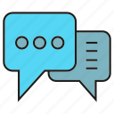chat, communication, speech bubble, talking icon