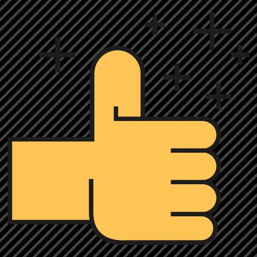 hand, plus, social media, social network, thumb up icon