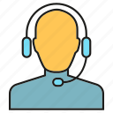 call center, communication, customer service, headphone, people icon