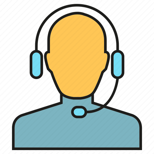 call center, communication, customer service, headphone, people icon