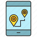 gps, location, map, mobile, phone, pin, tracking icon