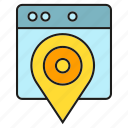 location, map, pin, tracking, web icon