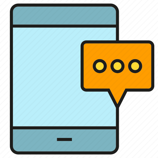 chat, communication, message, mobile, phone, smart phone icon