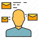 communication, email, envelope, info, mail, people, send icon