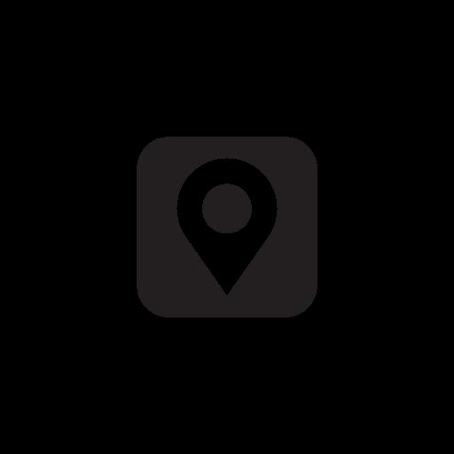 location, map, marker, media, social icon