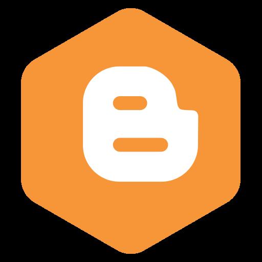 blogger, logo, social icon