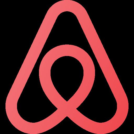 airbnb, logo, media, social icon