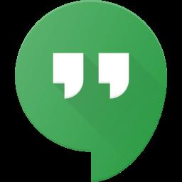 hangout, logo, media, social icon