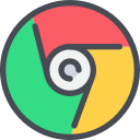 chrome, google, media, network, social icon
