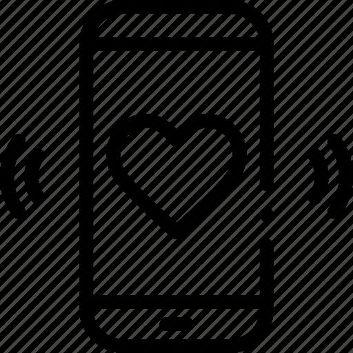 call, like, love, phone, ring icon