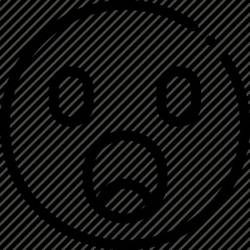 emoji, shock, shocked, surprise icon