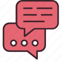 chat, communication, conversation, message, socialize, speaking, talk icon