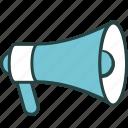 advertisement, advertising, loudspeaker, marketing, megaphone, promote, promotion icon