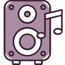 audio, listen, music, note, song, sound, speaker icon