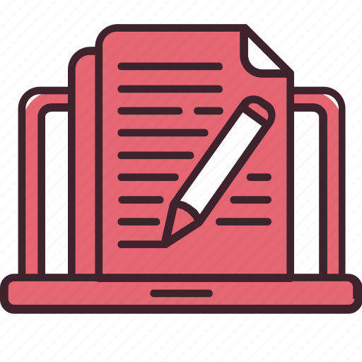 article, blog, blogging, computer, content, pencil, writing icon