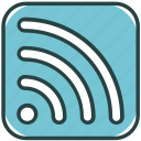 communication, feed, internet, news, newsletter, rss, signal icon