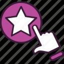 add, bookmark, estimate, favorite, press, rate, star icon