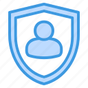 user, protection, avatar, profile, security, shield, account