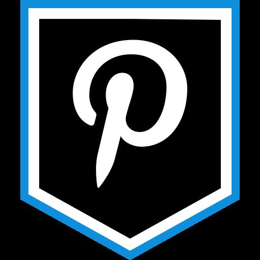 logo, media, pinterest, social icon